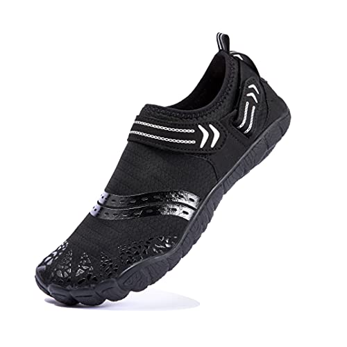 Josaywin Zapatos de Agua Zapatillas de Playa Niño Escarpines Surf Zapatos Minimalistas Descalzos Verano Respirable Secado RáPido NatacióN Calzado para Piscina Yoga Deportes AcuáTicos Negro 40