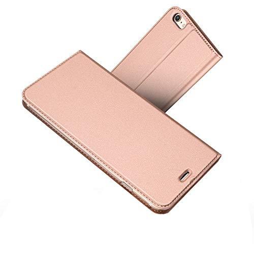 Radoo iPhone 6S/ iPhone 6 Hülle, Premium PU Leder Handyhülle Brieftasche-Stil Magnetisch Klapphülle Etui Brieftasche Hülle Schutzhülle Tasche für Apple iPhone 6/6S 4.7 Zoll (Rose Gold)