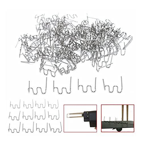 shiqi Establecer Accesorios de Grapas de Onda 400pcs Abrazadera de Acero Inoxidable de Acero Inoxidable Reemplazo de la reparación de Plata Soldador