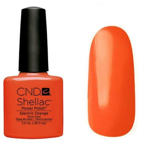 CND Shellac Vernis à ongles en gel UV soak off de choisir parmi 89 couleurs Inc Toutes les collections et la nouvelle collection Garden Muse (allthingsbountiful) (électrique Orange Collection) (Paradis)