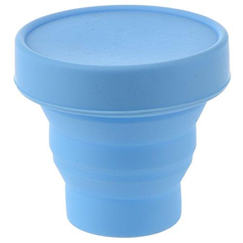 SODIAL(R) Vaso Plegable Ahorro de Espaciopara Viaje Campamento (Azul)