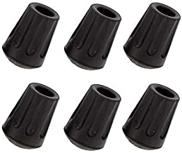 P.R.O. Hiking Pole Tips - 6 Pack - Replace Lost or Worn Standard Hiking and Trekking Pole Tips
