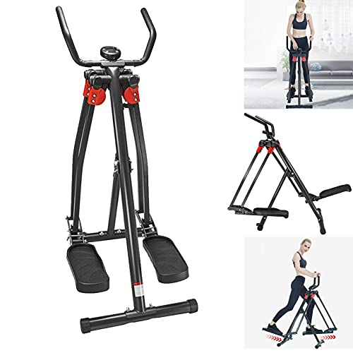 DSVF Elliptical Exercise Machine- Foldable Elliptical Training Machine LCD Display Air Walkers Compact Elliptical for…