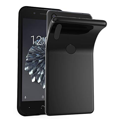 Cadorabo Hülle für BQ Aquaris X5 Plus in SCHWARZ – Handyhülle aus flexiblem TPU Silikon – Silikonhülle Schutzhülle Ultra Slim Soft Back Cover Case Bumper