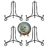 Xkfgcm 4 Pièces 4 Pouces Décoratifs Plaque Support Cadre Photo avec Support Chevalet de Présentation pour Photo Cadres pour Image Livres de Cuisine Assiettes Décoratives Tableaux et Pièces D'Art