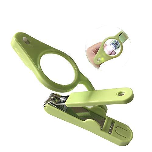 Lupen Nagelknipser, Groß Nagelknipser für ältere Menschen und Baby mit Auffangbehälter mit LED Licht