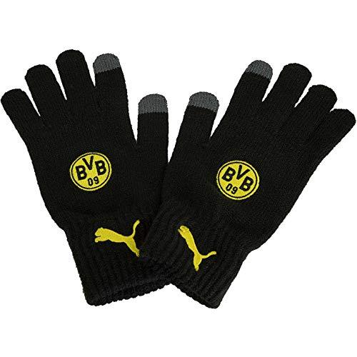 Puma BVB Borussia Dortmund Knit Handschuhe (S, schwarz)