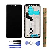 JayTong LCD Display & Replacement Touch Screen Digitizer Assembly with Free Tools for Xiao mi Redmi Note 6 Pro/Redmi Note 6pro Black with Frame