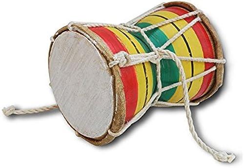 SG Musical Handmade Damroo for Kids Indian Musical Instrument Small Damru Golden Color not Brass