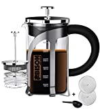 Bison International Marine French Press BPA Free Coffee Espresso and Tea Maker with 4 Level Filtration System, 600ml(Black)