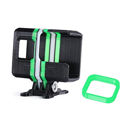 iFlight 3D Printed Adjustable Camera Mounting Case Seat 0~40° TPU Compatible Gopro Hero 5/6/7 Used for Titan XL5/DC5/Nazgul5/SL5 Series FPV Racing Drone Quadcopter Frame (Black & Green)
