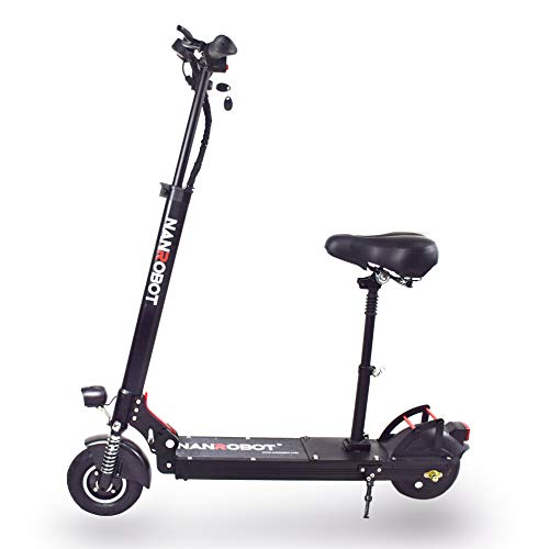 NANROBOT Electric Scooter X4 500W Motor for Adult Lightweight Portable 22 Miles Long Range Speed 20 MPH (X4 Pro with seat)