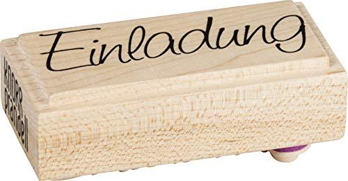 Knorr Prandell 211800300 Knorr prandell 211800300 Stempel aus Holz (Einladung) Motivgröße 6 x 2,5 cm, Motiv: Einladung