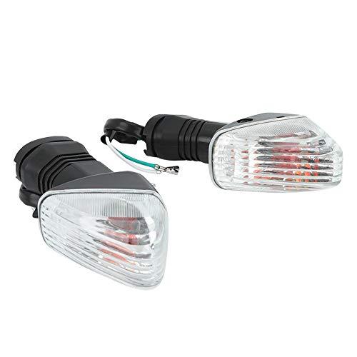 Lámpara de luz de señal de giro 2PCS apta para accesorios de modificación de motocicleta ZX-6R KLE KLR Z750S(Negro + blanco)
