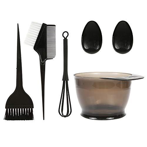 Anself 5 teiliges Haarfärbepinsel Haare Faerben Set Färbepinsel haare faerbeset, Haarfärbepinsel und Färbeschale Friseur Farbstoff Mixer mit Ohrkappen