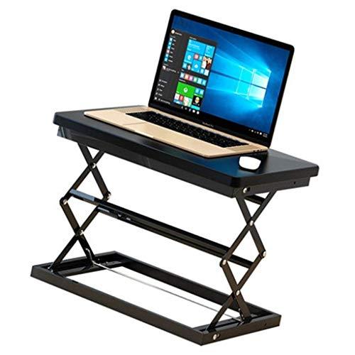 Fäll bort bord - bärbar fällbar stationär dator skrivbord bärbar skrivbord mobil arbetsbänk 50 * 37 * 48 cm svart bärbart campingbord