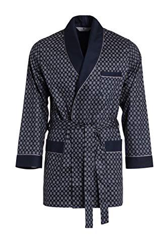 Revise Robe de Chambre pour Homme - Court - Peignoir RE-509 - Elégant - 100% Coton - Bleu - 3XL
