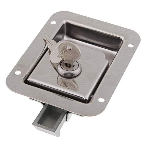 RV Toegangsdeurslot Handvatknopset - Inclusief nachtschoot en sleutels, industriële kwaliteit - Chroom