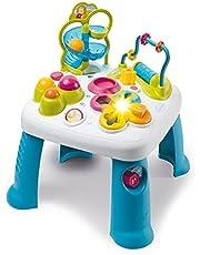 Smoby 110426 Table d'Activités Cotoons Activity-speeltafel, baby, motoriek, knikspel, steekspel, voor kinderen vanaf 12 maanden, meerkleurig