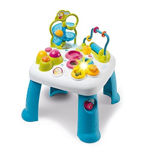 Smoby - Cotoons Table d'Activités - Fonctions Electroniques et Mécaniques - Trieur de Formes - Jouet pour Bébé dès 12 Mois - 110426