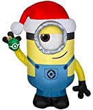 Gemmy 3.5FT Tall Stuart The Minion with Santa Hat and Ornament Inflatable Indoor/Outdoor Holiday Decoration