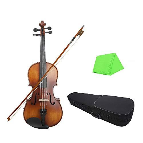 Ajcoflt 16 Zoll Electric Viola EQ Fichtenholz mit Bogenreinigungstuch Tragebox für Erwachsene Kinder Anfänger