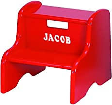 Little Colorado Personalized Red Step Stool