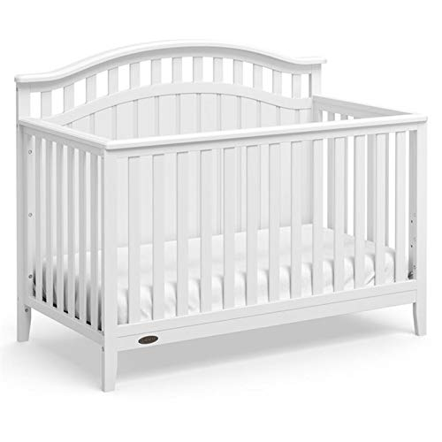 Graco Harper 4-in-1 Convertible Crib (White) Easily Converts to Toddler Bed Day Bed or Full Bed,Three Position Adjustable Height Mattress,Some Assembly Required (Mattress Not Included)