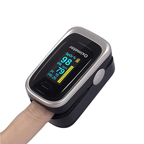 Oximeter Pulsoximeter Pulse Met OLED-Scherm, Hartslagmeter En Zuurstofverzadigingsbereik Monitor Met HD Display, Auto-Slaapfunctie En Fast Lezingen Fit for Family Health Care
