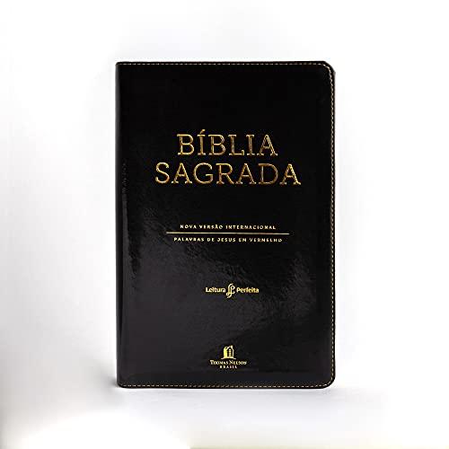 Bíblia NVI, Couro Soft, Preto, Letras Vermelhas, Índice de Dedo, Leitura Perfeita.