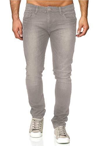 Indicode Tony heren jeans, slim fit used look denim met stretchstof