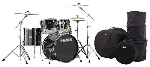 Yamaha Rydeen RDP0F5 Drumset (5-teiliges Schlagzeug, inkl. Paiste 101 Beckensatz, Hardware und Taschen) Black Glitter
