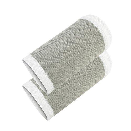 Elástica funcional del brazo variables, WRISTBANDS pulsera deportivo ligero protector gris blanco de nylon de secado rápido delgada luz que absorbe el sudor permeabilidad al aire a presión Baloncesto