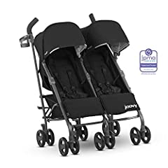 Your children can nap from newborns to 50 pounds in a near-flat recline, 100 pounds max weight. The folded dimensions are 41.75 x 22 x 16 inches UPF 50 canopy provides sun protection plus peek-a-boo window Comes with large dual swivel front wheels an...