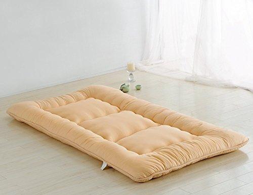 Colorful Mart Light Tan Futon Tatami Mat Japanese Futon Mattress Sleeping Mat Floor Futon Mattress Japanese Bed, Twin Size
