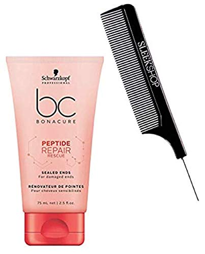Price comparison product image Schwarzkopf BC Bonacure Repair Rescue SEALED ENDS for damaged ends (with Sleek Steel Pin Tail Comb) (2.5 oz / 75ml - retail size)