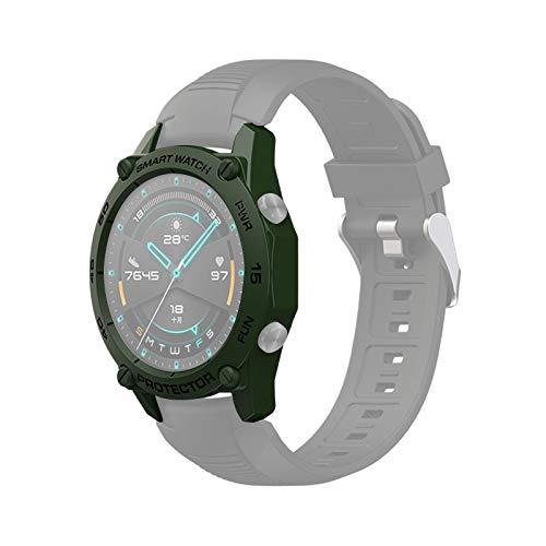 Cellphoneparts BZN Smart Watch Case per Huawei Watch GT2E 46mm Smart Watch Custodia Protettiva in TPU, Colore: Army Green + Nero
