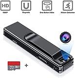 Mini Camara Espia Oculta Videocámara,SP-Cow 1080P HD Cámara con Tarjeta SD de 32GB,Vigilancia Portátil Secreta Compacta con Detector de Movimiento,Camaras de Seguridad Pequeña Interior/Exterior