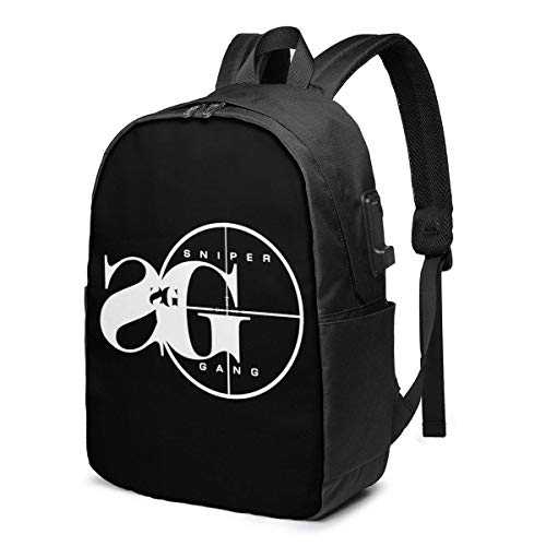 Hdadwy Sniper Gang Mochila Unisex Mochila Escolar universitaria Bolsa para portátil USB 17in