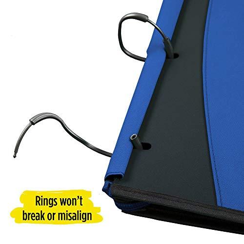 Five Star Flex Hybrid NoteBinder, 1 Inch Ring Binder, Notebook and Binder All-in-One, Cobalt (73418) Photo #3