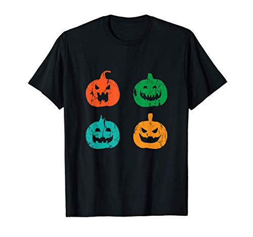 La calabaza clásica se enfrenta a un disfraz de Halloween de Camiseta