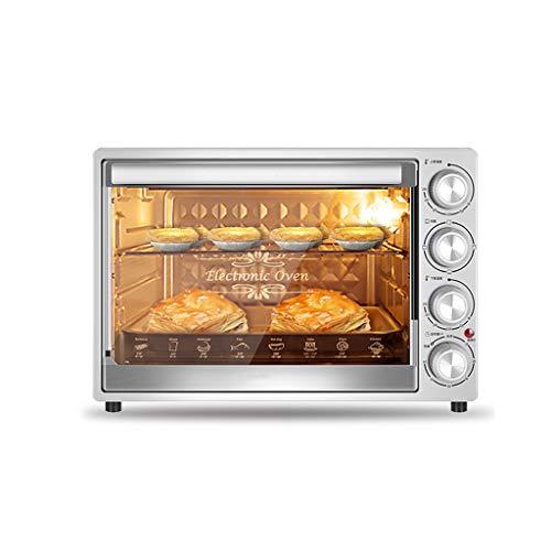 GCX Four électrique Four Petit Ménage automatique de cuisson multi-fonction à grande capacité de bureau gâteau du four mode (Color : Silver)