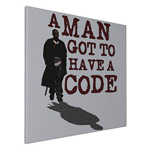 Canvas Prints Wall Art Paintings(20x20in) A Man Got To Have A Code Omar The Wire Pictures Home Office Decor Framed Posters & Prints