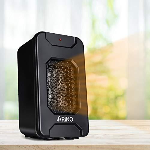 ARINO Stufe Elettriche Stufetta Elettrica Mini Riscaldatore Portatile Termoventilatore Riscaldamento Elettrico a...