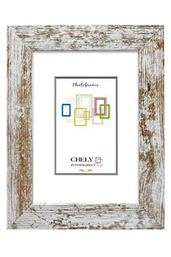 Chely Intermarket, Marco de Madera rústica 50x70cm MOD-204 (Vintage) Marco de Fotos para decoración de casa | Fotografías de Boda | Fotos de paisajes | Listado de Precio (204-50x70-1,55)