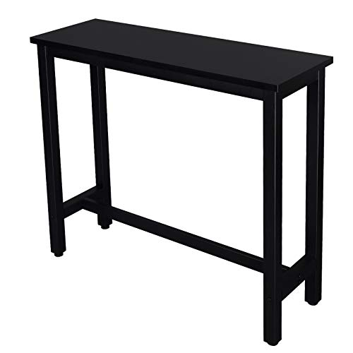 eSituro Bar Table Breakfast Table Kitchen Dining Table Coffee Table Black