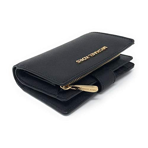 "Size Approximate Measurements: 5.25""L X 3.5""H X 1.5""D Saffiano leather, Gold-tone hardware Button snap closure Signature fabric lined pockets: One zip coin pocket, one full length bill comaprtment Six card slots, one ID Window, No dust bag or gift bo..."