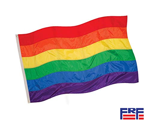 Rainbow Gay Pride Flags LGBT Lesbian 3×5Ft Banner Stripe Outdoor Flag Fade Resistant Durable Polyester Two Brass Grommets Canvas Header Double Stitched