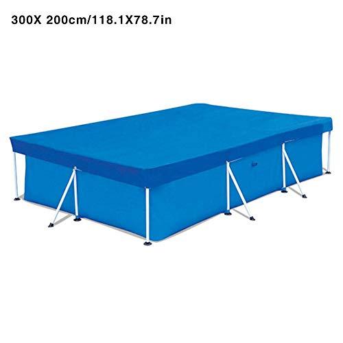 Bâche De Protection pour Piscine, Rectangulaire, Rectangulaire Piscine UV-Resistant Bâche Protection Imperméable Anti-poussière Durable Couvre 4 tailles en option