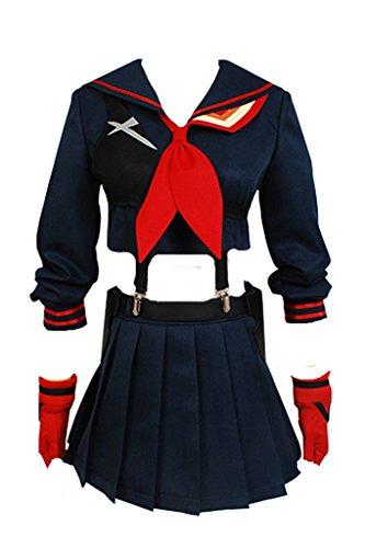 Daiendi Kill la Kill Ryuko Matoi Cosplay Costume Adulto EU Taglia Nero Femme:L